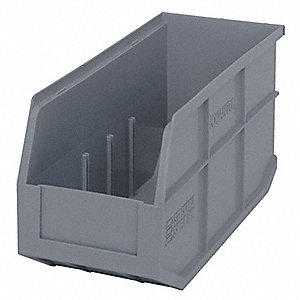 STACKABLE SHELF BIN,14X6X7,GRAY
