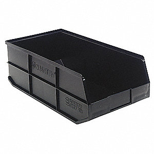 "Shelf Bin, Black, 7""H x 20-1/2""L x 11""W, 1EA"