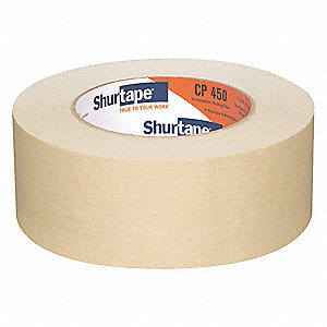 Masking Tape, 55m x 48mm, Natural, 6.9 mil, Package Quantity 24