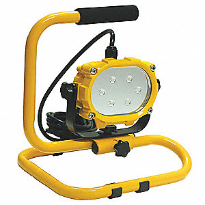 16W LED Temporary Job Site Light, Yellow, 120VAC