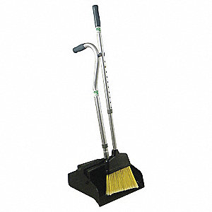 "Plastic Telescopic Handle Dust Pan with Broom, Overall Length 45"", Overall Width 11-1/2"""