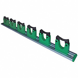 Silver/Green Metal Organizer/Tool Holder, 1 EA