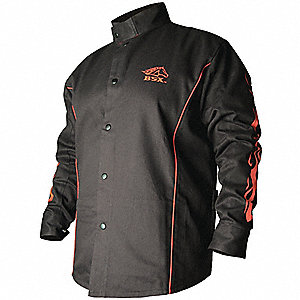 Welding Jacket,FR,Cotton,Black,L
