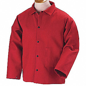 Flame-Resistant Jacket,Cotton,Red,2XL