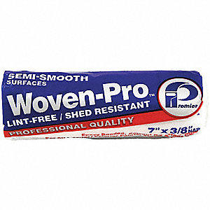PAINT ROLLER COVER,7X3/8 IN,SEMI-SM