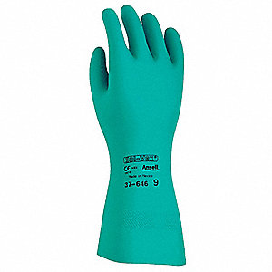 Chemical Resistant Gloves,Green,Sz 11,PR
