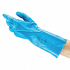 Chemical Resistant Glove,Latex,7,Blue,PR