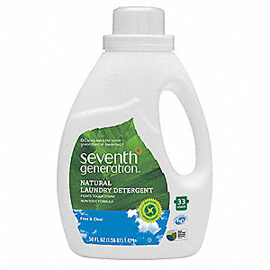 Laundry Detergent, 50 oz. Jug, Free & Clear/Unscented Liquid, 6 PK