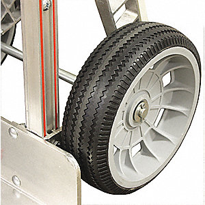 "10"" Light-Medium Duty Sawtooth Tread Pneumatic Wheel, 300 lb. Load Rating"