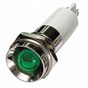 Protruding Indicator Light, LED Lamp Type, 12VDC Voltage, 12mm Mounting Dia. Size