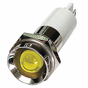 Protruding Indicator Light, LED Lamp Type, 24VDC Voltage, 12mm Mounting Dia. Size