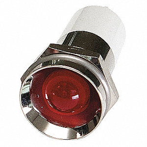 Protrude Indicator Light,Red,24VDC