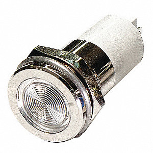 Flat Indicator Light, LED Lamp Type, 120VAC Voltage, 16mm Mounting Dia. Size