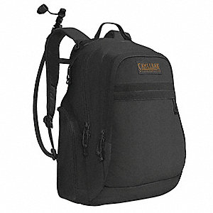 "Black Hydration Pack, 50oz./1.5L Capacity, Depth 2-3/4"", Length 11"", Width 7"""