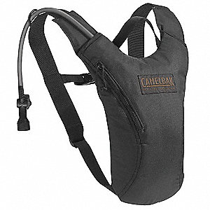 "Black Hydration Pack, 50 oz./1.5L Capacity, Depth 2-3/4"", Length 11"", Width 7"""