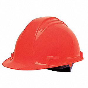 Hard Hat,C, E,Red,4 pt. Ratchet