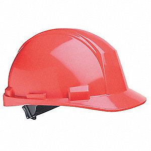 Hard Hat,4 pt. Pinlock,Red