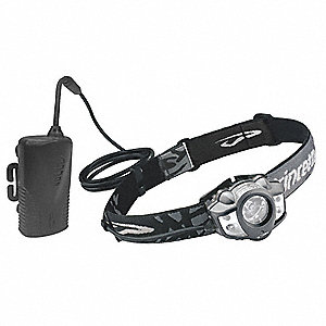 LED Industrial Headlamp, Polymer, 10,000 hr. Lamp Life, Maximum Lumens Output: 275, Black