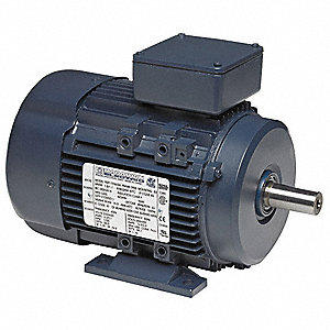 1 1/2 HP Metric Motor,3-Phase,3450 Nameplate RPM,575 Voltage,Frame 80M