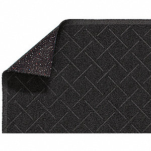 Black PET Polyester, Entrance Mat, 4 ft. Width, 6 ft. Length