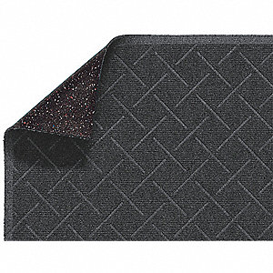 Gray PET Polyester, Entrance Runner, 4 ft. Width, 16 ft. Length