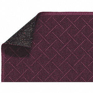 Maroon PET Polyester, Entrance Mat, 3 ft. Width, 5 ft. Length