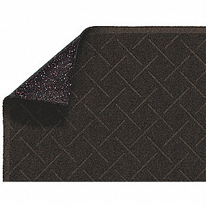 Brown PET Polyester, Entrance Mat, 3 ft. Width, 5 ft. Length
