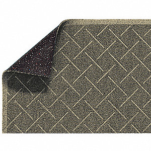 Khaki PET Polyester, Entrance Mat, 3 ft. Width, 5 ft. Length