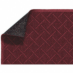 Red PET Polyester, Entrance Mat, 4 ft. Width, 6 ft. Length