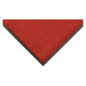 Red/Black PET Polyester, Entrance Mat, 3 ft. Width, 5 ft. Length