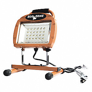 9.9W LED Floor Stand Temporary Job Site Light, Copper, 779 Lumens