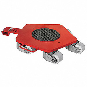 "30""L x 22-1/8""W x 4-3/5""H Red General Purpose Dolly, 13,200 lb. Load Capacity"