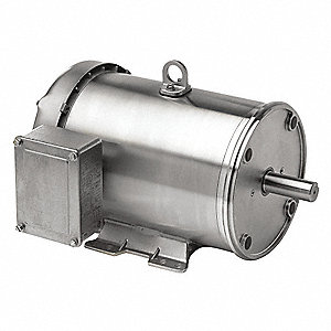 1 HP Washdown Motor,3-Phase,1725 Nameplate RPM,208-230/460 Voltage,Frame 56HC