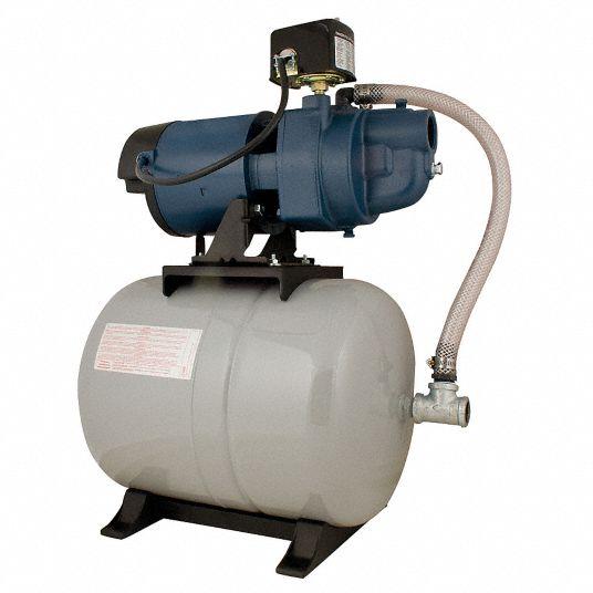 Flint Walling 3 4 Hp Hp Shallow Well Jet Pump System 13 6 5 Amps 9 6 Gpm Flow Rate 10 Ft Lift 40 Psi 24pr58 Ek07sat44h Grainger