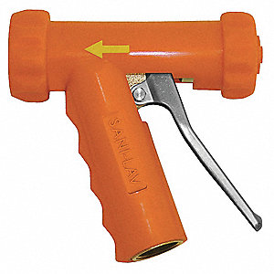 Water Nozzle,Safety Orange,6-11/50 In L