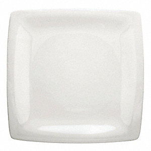 Square Plate, 12 In, White, PK12