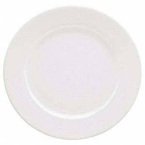 Plate,9-1/10 In,White,PK12