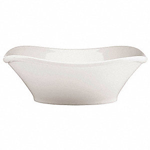 Bowl,White,7-1/2 In,16 oz.,PK12