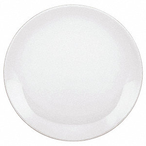 Coupe Plate, 9-1/2 In, White, PK12