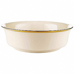 Serving Bowl,Ivory/Gold,9-1/3 In,PK12