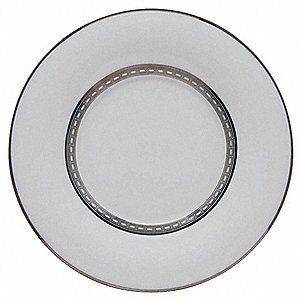 Saucer, 5-4/5 In, White/Silver, PK12