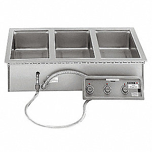 Stainless Steel Triple Well Built-in Food Warmer