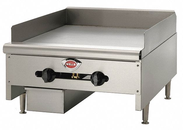 "24 1/8 in"" x 31 11/16 in"" x 17 in Gas Griddle w/Thermostat"