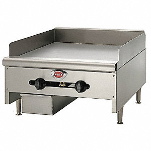 "24-1/8"" x 31-11/16"" x 17 Natural Gas Griddle"