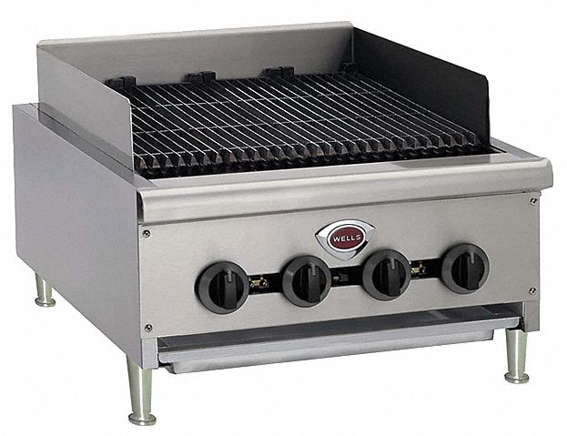 18 1/8 in x 38 in x 30 1/2 in Countertop Gas Charbroiler