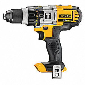 "1/2"" Cordless Hammer Drill, 20.0 Voltage, Bare Tool"