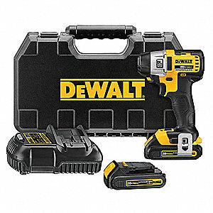 "1/4"" Cordless Impact Driver Kit, 20.0 Voltage, 1500/900/500 In.-lb. Max. Torque, Battery Included"