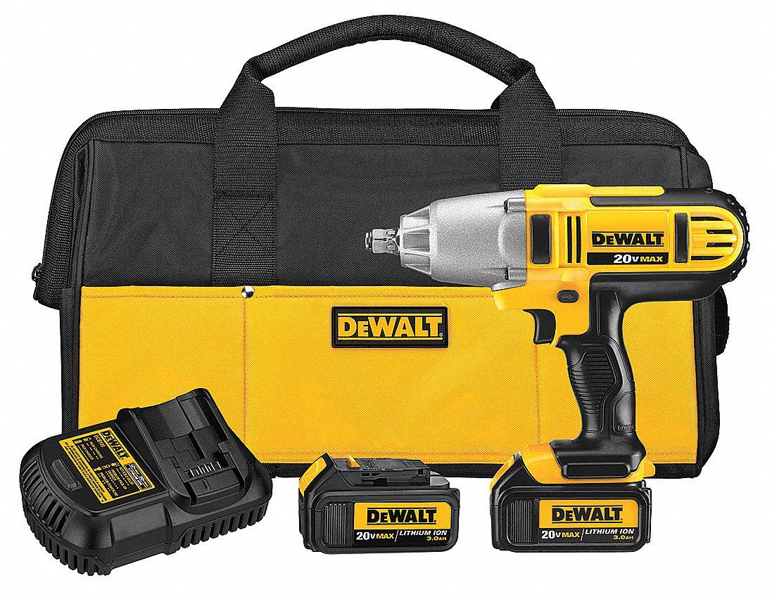 Dewalt 1 2 Cordless Impact Wrench Kit 20 0 Voltage 400 Ft Lb Max Torque Battery Included 24t867 Dcf889hm2 Grainger