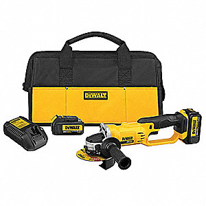 "4-1/2"" 20V MAX  Cordless Angle Grinder Kit, 20.0 Voltage, 8000 No Load RPM, Battery Included"