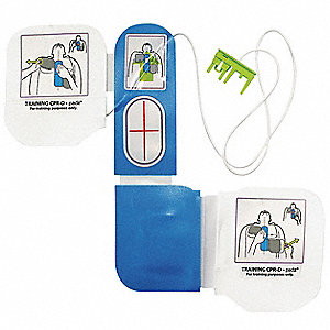AED Training Electrode Pad Set&#x3b; For Use With Mfr. No. 8008-0050-01